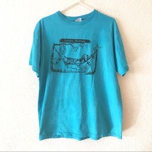 Vintage 90s Eureka Montana Life Slow Lane T Shirt